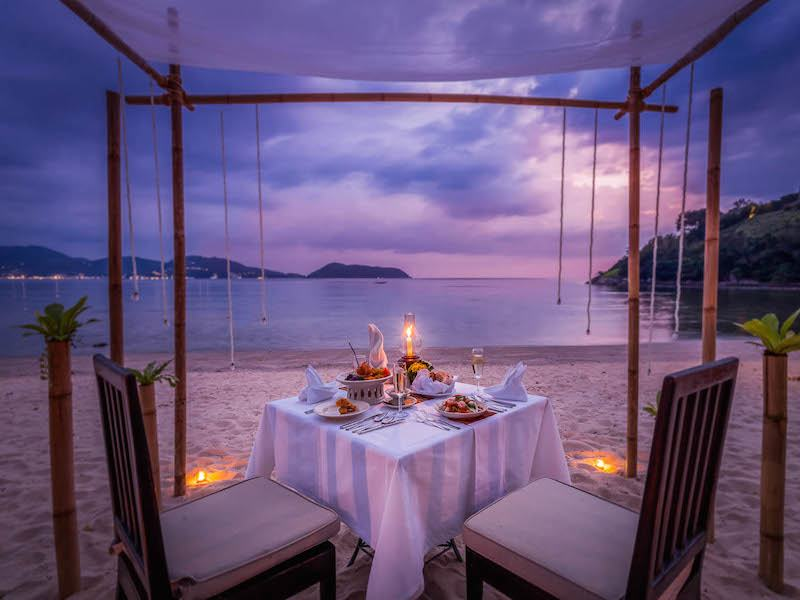 Phuket'de balayı - Romantik Akşam Yemeği